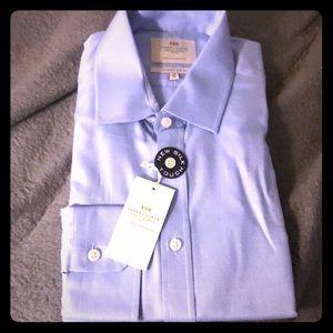 Hawes & Curtis Blue Dress Shirt - Easy Iron